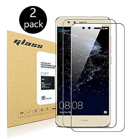 [2-Pack]Huawei P10 lite Protecteur d'écran,HoPerain[verre trempé] Protection écran,Dureté 9H,Anti Scratch,Anti-empreintes digitales
