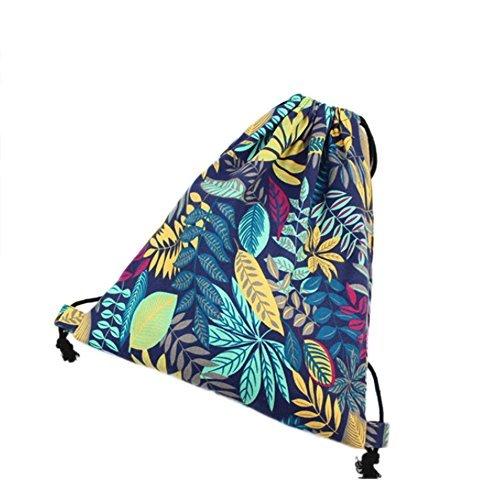 Imagen de laat  bolsa de tela con cordones, diseño estampado, ideal como bolsa de viaje o  para adolescentes y estudiantes alternativa