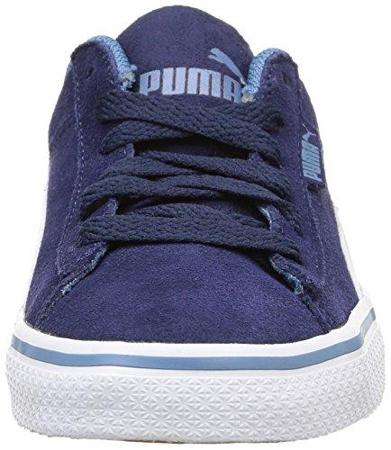 Puma 1948 Vulc, Baskets Basses Garçon Bleu (Peacoat/White)
