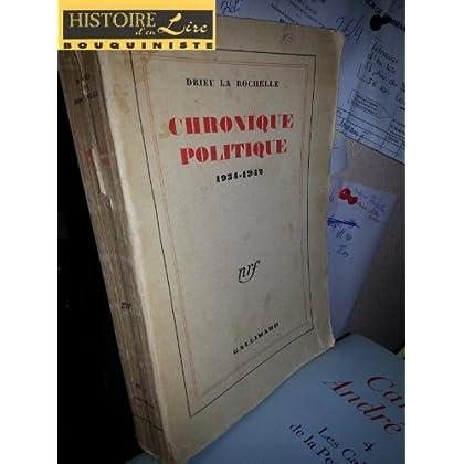 Chronique politique 1934 1942