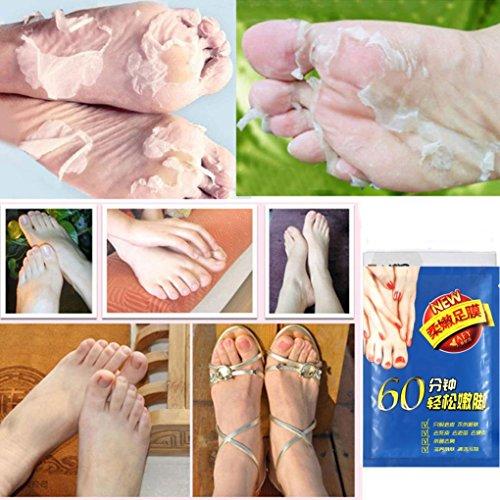ZEZKT-Beauty Fußmaske | Fuß Peeling Maske | Exfoliating Fußmaske Tender Soft Feet Entfernen Sie Callus Hard Dead Skin Maske Fuß Gesundheitswesen Deep Exfoliation Peeling SockenHornhautsocke -