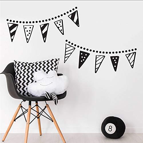 Makeyong Bunting Banner Trendy Wandaufkleber Für Baby Schlafzimmer Kindergarten Vinyl Wandtattoos Dekoration Wohnzimmer Abnehmbare Aufkleber 109X56 Cm (Geburtstag Banner Anpassen)
