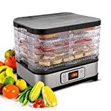Lonlier Deshidratador Eléctico de Alimentos Máquina deshidratadora Multinivel Profesional Secado de Frutas, Carne y Verduras