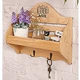 Se non è possibile risolvere la tua casa e la tua vita organizzata.rustic-style fascino e organizzazione in un unico pacchetto conveniente. Dimensioni: 33.5* 11* 29cm Peso: 0.75kg Materiale: legno