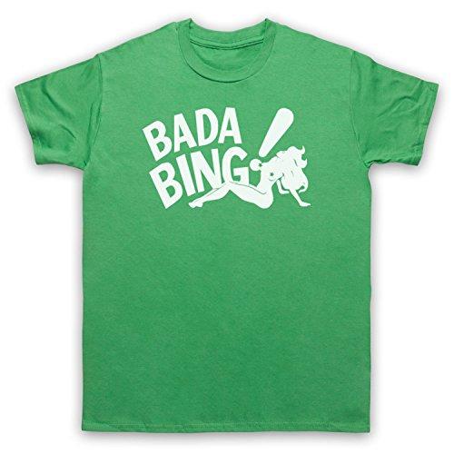 Inspiriert durch Sopranos Bada Bing Logo Unofficial Herren T-Shirt Grun