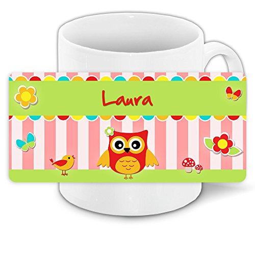 Eulen-Tasse mit Namen Laura und schönem Eulenmotiv für Mädchen 15
