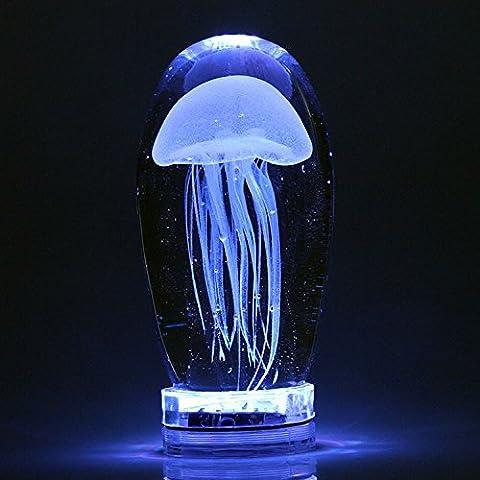 CNMKLM conduit nuit lumière lampe de chevet lampe de méduse de verre Chambre