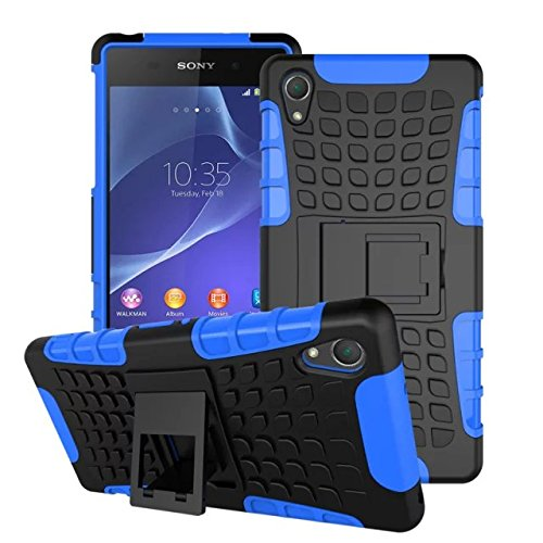 Sony Xperia Z2 Case, DRUnKQUEEn Protective [Ultra Fit] Tough Rugged Dual Layer Protection Case Cover with Build in Stand for Sony Xperia Z2