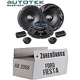 Lautsprecher Boxen Autotek ATX-6.2C | 2-Wege 16cm Lautsprecher System 16,5cm Auto Einbauzubehör - Einbauset für Ford Fiesta MK7 Front Heck - JUST SOUND best choice for caraudio