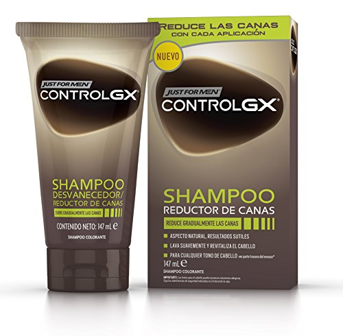 Just For Men Control GX Champú Reductor de Canas - Tinte para las canas del pelo para hombres - 147 ml