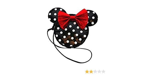 Minnie Mouse Handbag with Gorgeous Red Sateen Shimmery Bow