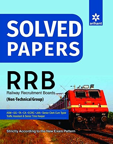 Solved Paper RRB (Non-Technical Cadre) for ASM, GG, TA, CA, ECRC, JAA,...