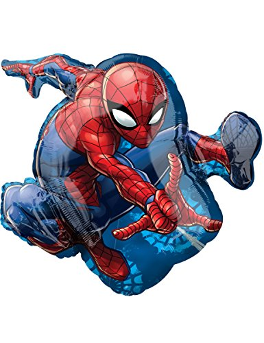 Amscan International 3466501Spider-Man Folienballon (Spiderman-geburtstag-kerze)