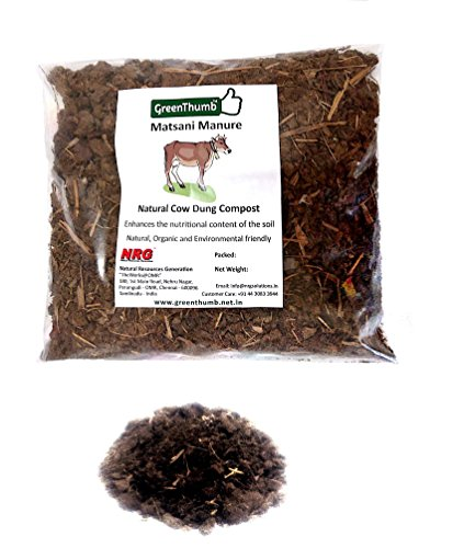 Green Thumb's Matsani- Cow Dung Compost And Manure/ Cow Dung Fertilizer/ Soil Conditioner For All Plants And Trees (900 grams)