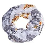MANUMAR Loop-Schal für Damen | Hals-Tuch in Weiß mit Totenkopf Motiv als perfektes Herbst Winter Accessoire | Schlauchschal | Damen-Schal | Rundschal | Geschenkidee für Frauen und Mädchen