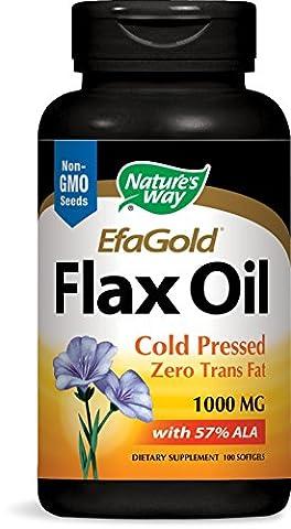 Natures Way Flax Oil, 100 Softgels, 1000Mg