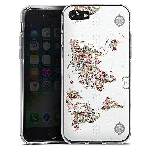 Apple iPhone X Silikon Hülle Case Schutzhülle Bunte Welt Muster Blumen Tiere Silikon Case transparent