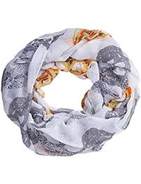 9922da3d6ab1de MANUMAR Loop-Schal für Damen | Hals-Tuch in verschiedenen Farben mit  Totenkopf Motiv als perfektes Herbst Winter Accessoire |…