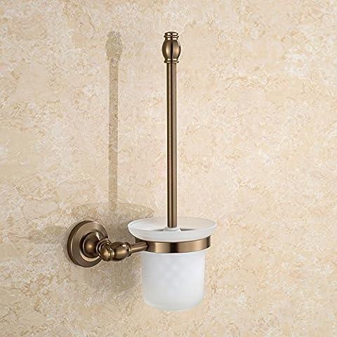 MTJQCL® Bagno/antico continentale ciondoli in metallo spazio alluminio vetro mensola scopino vintage