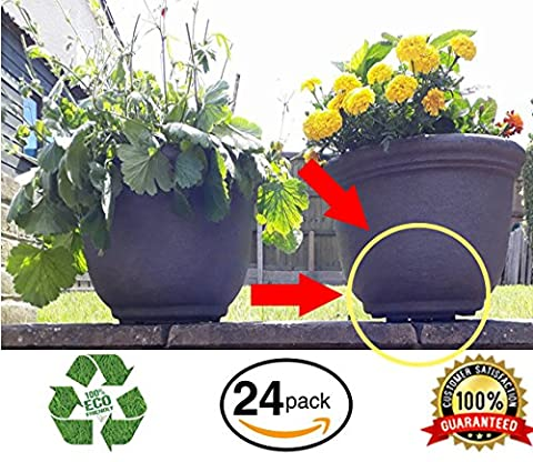 Eco-Friendly Invisible Flower Pot Risers (Pack of 24), Supports 7-8
