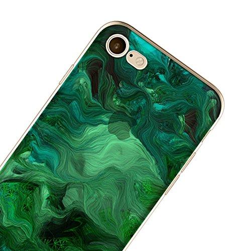 Ultra Sottile Custodia per iPhone 7 Plus iPhone 7 Plus, Cover per iPhone 7 Plus, Sunroyal Creativa Wave Cover Morbido Flessibile TPU Silicone Gel Protettivo Skin Caso Custodia Protettiva Shell Case Co Model 11