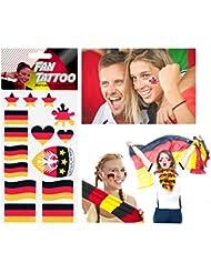 Fan Tattoo Sticker Deutschland, verschiedene Designs, ideal für WM 2014