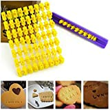 Vepson Alphabet Number letter Impress Set cookie biscuit Fondant stamp