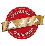 Heitmann Deco Weihnachtsbaum-Schmuck - Behang-Set aus Kunststoff - 12-teilig - rot/gold - Christbaum-Anhänger - 4