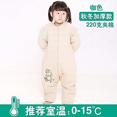 Calcio alla gamba di bambino sacco a pelo bambino sacco a pelo bambino cotone imbottito è l'applicazione di prova di - Mezzo Organico Chicco Di Caffè