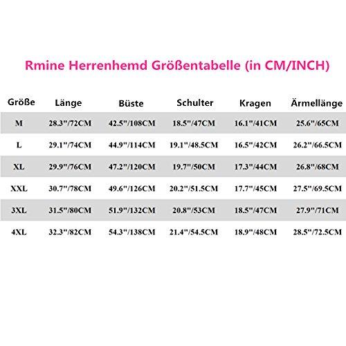 Rmine Herren Langarm Hemd Bügelleicht für Freizeit Business M-4XL Braun