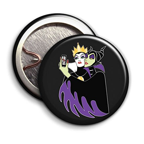 Maleficent and Evil Queen - Button Badge
