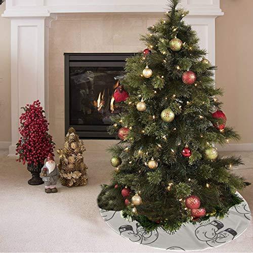 ZHANGhome Weihnachtsbaum Rock Nette Farbige Kreative Boxhandschuhe Drucken Sommer Baum Rock Polyester Urlaub Baum Rock Teppich Für Party Urlaub Dekorationen Weihnachten Ornamente