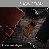 Soyes Skyshop New 2019 W9 Mini Smallest Thinnest Low Radiation Wooden Design Cute Keypad Mobile Phone (Amber Wood Grain)