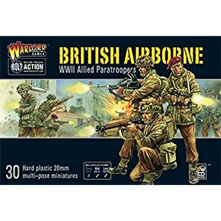 Bolt Action 11009 - British Airborne WWII Allied Paratroopers - 30 x 28mm Miniatures