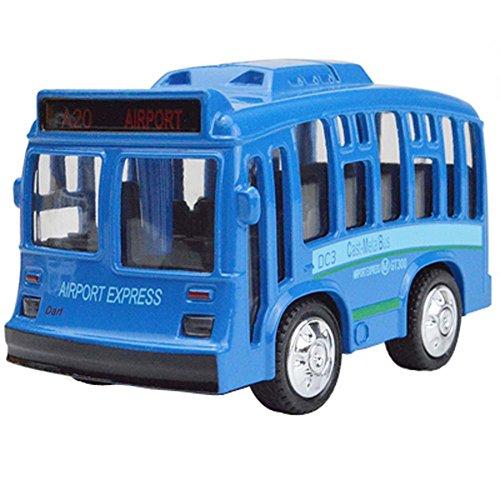 Alloy Double Retro Bus Retour Modèle de voiture Lumières sonores Toy Car