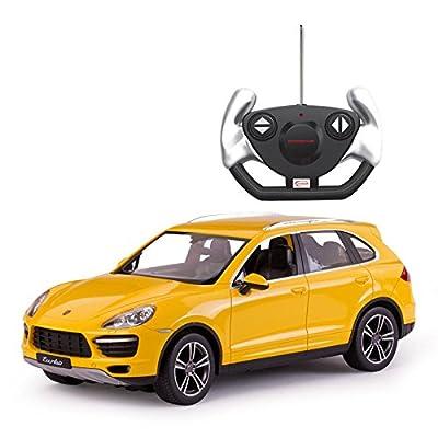 Rastar 42900YL - Porsche Cayenne Turbo, Spielzeug, 1: 14, Yellow von Rastar
