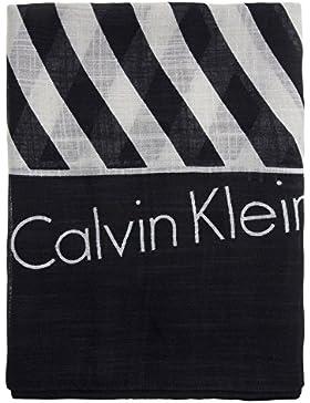 Calvin Klein Square Logo Damen Schal Schwarz