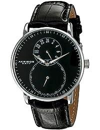 Akribos XXIV AK847SSB - Reloj de cuarzo para hombres, color negro
