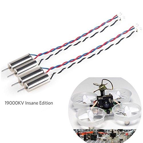 Crazepony-UK 4pcs 6x15mm Motore (Velocità: Loca) 19000KV Par Lama Inductrix Whoop Minuscoli Micro JST 1,25 Spina Con Anelli À Gomma
