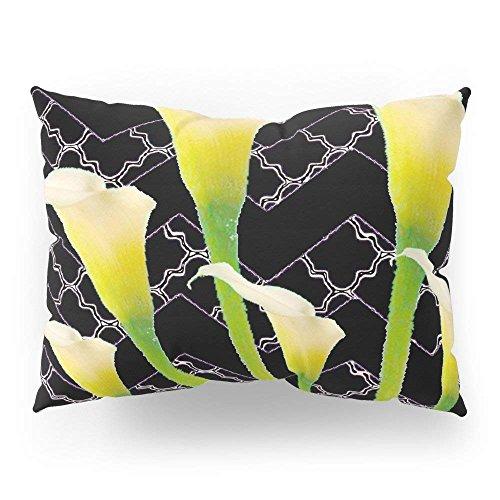fengxutongxue Black Deco Art Calla Lilies Pillow Sham Standard (20