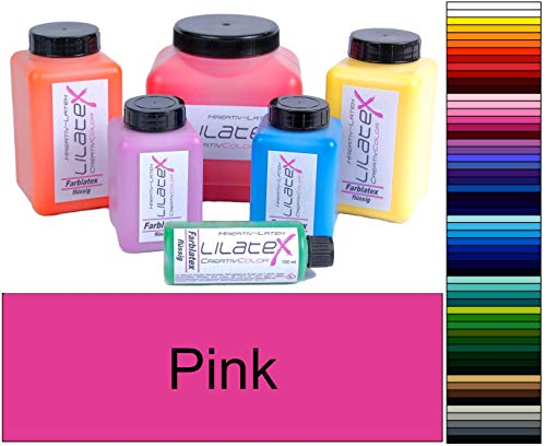 Lilatex 1 Liter farbiges extra-dickflüssiges Flüssiglatex/Farblatex/Latexmilch - extra-Dickes Naturlatex