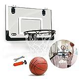 TOOGOO Mini Basketballkorb mit Ball 18 Zoll x12 Zoll bruchsicher Rueckwand