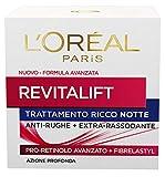 L'Oréal Paris Revitalift Crema Viso Antirughe Extra-Rassodante Notte con Pro-Retinolo Avanzato, 50 ml