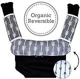 Porte bébé de dentition de bave Coussinets: Lot de 3Bavoir En Coton Bio Pad Sangle couvertures