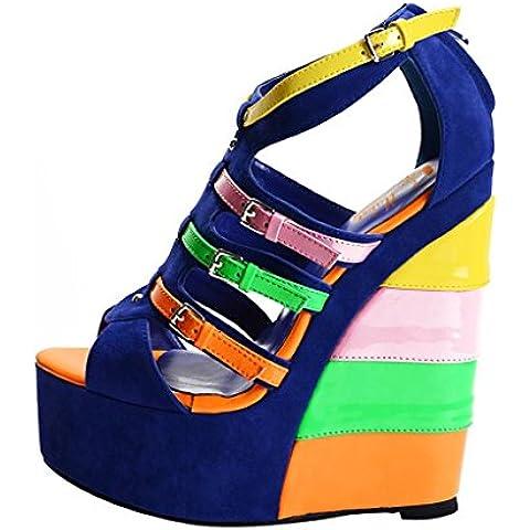 Onlymaker-Venta caliente zapatos para mujer de tacon de punta abierta de encaje tacon aguja tobillo con hebillas hechas a mano