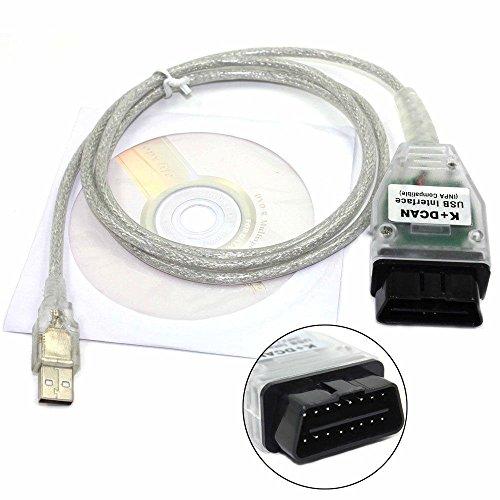 BMW INPA câble BMW K + D Peut USB câble d'interface de voiture Ediabas K + DCAN USB OBD2 OBDII scanner de diagnostic pour BMW (avant 2008) par Royaltec