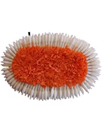 Fashion205 White And Orange Fabric Plastic Vani Flower Set For Women & Girls