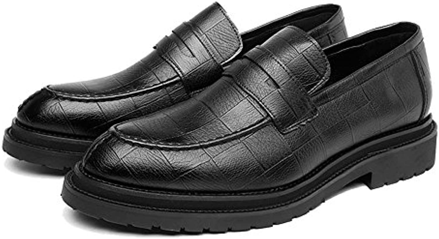 Jiuyue shoes  Sommer 2018 Herren Business PU Lederschuhe Klassische Slip on Loafers Platz Textur Outsole Oxfords