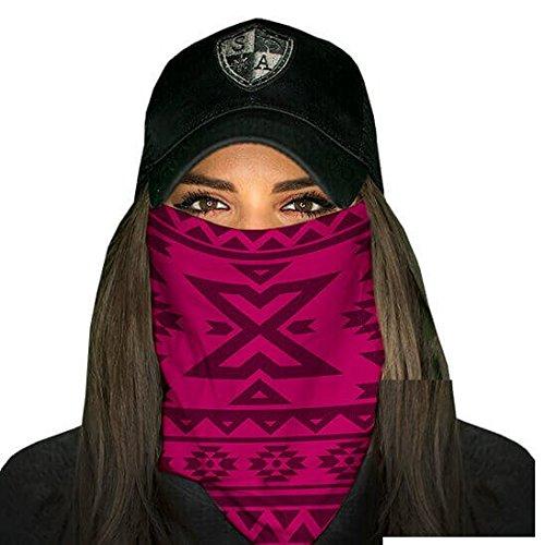Sa fishing company, passamontagna, celata, bandana, scaldacollo, per sci, motociclismo, paintball, halloween, aztec dark pink