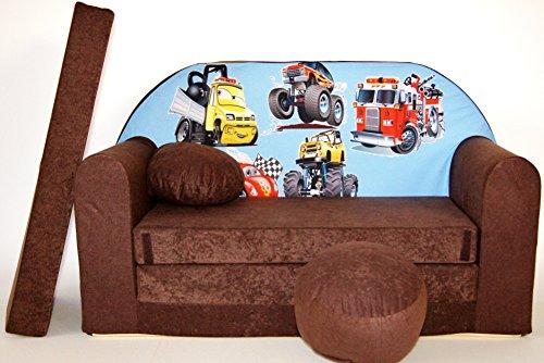 K14 bambini divano divano richiudibile divano letto mini 3-in-1 baby set + poltrona per bambini e cuscino per sedia + materasso